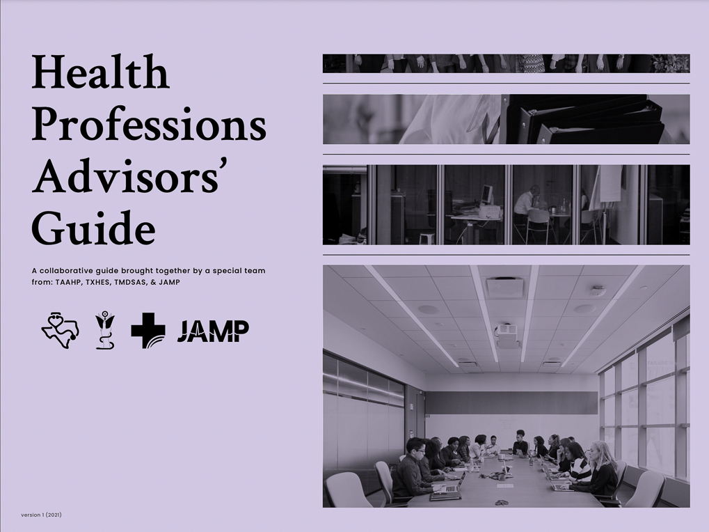 health professions advisors' guide cover