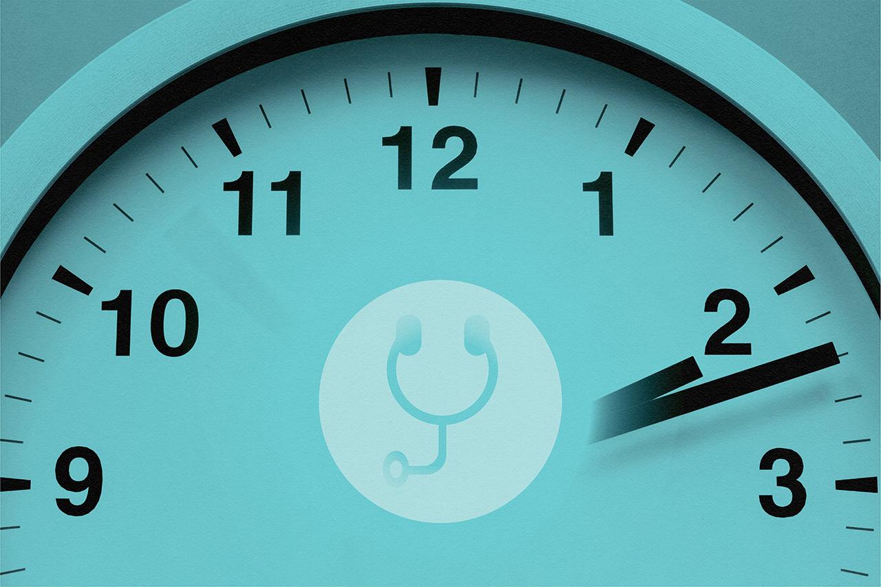 working clock for medical application deadline