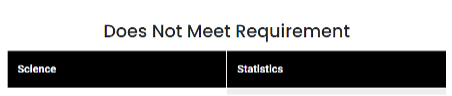 screenshot of course listing (does not meet requirements section)